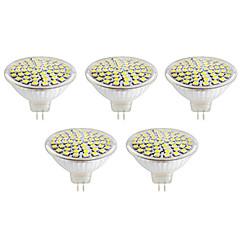 5W GU10 / GX5.3 Focos LED MR16 60led SMD 2835 500lm lm Blanco Cálido / Blanco Fresco Decorativa V 5 piezas