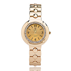 Mujer Reloj de Vestir Reloj de Moda Reloj de Pulsera Cuarzo / Aleación Banda Cool Casual Elegantes Plata Dorado Marca
