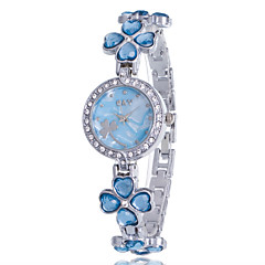 Women's Fashion Watch Bracelet Watch Quartz Rhinestone Imitation Diamond Alloy Band Flower Bangle Casual Elegant Silver Brand