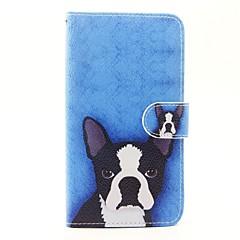 Para wiko lenny 3 lenny 2 dog pattern pu couro estopa de corpo cheio com suporte e slot para cartão para wiko lenny 2 lenny 3 sunset 2