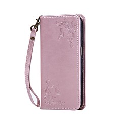 For LG Case Wallet / Card Holder / with Stand / Embossed Case Full Body Case Flower Hard PU Leather LGLG K10 / LG K8 / LG K7 / LG K4 / LG