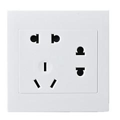 판매를위한 일곱 구멍 소켓 PC의 패널이 두 세 플러그 (86) 유형의 숨겨진 벽 스위치 소켓 / 네 패키지