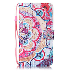 Flower Pattern PU Leather Lanyard phone Case for LG K7 LG LS775 STYLUS2