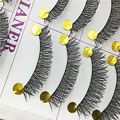 Kirpikleri Kirpik Tam Şerit Kirpikler Eyes Çapraz Kaldırılmış Kirpikler Elyapımı Fiber Black Band 0.10mm 12mm