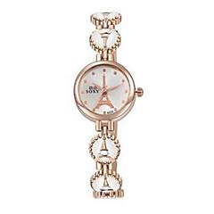 女性用 ファッションウォッチ カジュアルウォッチ 耐水 クォーツ 合金 バンド カジュアルスーツ エレガント腕時計 ブラック 白