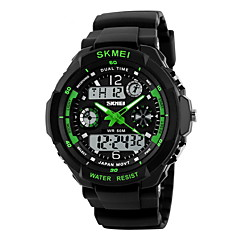 SKMEI Męskie Sportowy Wojskowy Zegarek na nadgarstek Kwarcowy Kwarc japońskiLED LCD Kalendarz Wodoszczelny Dwie strefy czasowe alarm