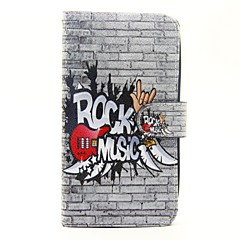 Musical Instruments Pattern PU Leather Full Body Case with Stand and Card Slot for Wiko Lenny 2 Lenny 3 Sunset 2