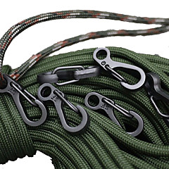 10 PCS Mini SF Spring Backpack Clasps Climbing Carabiners EDC Keychain Camping Bottle Hooks Paracord Tactical Survival Gear