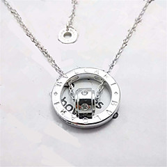 Necklace Non Stone Pendant Necklaces Jewelry Wedding / Party / Daily / Casual Fashion / Adorable Sterling Silver / Zircon Silver 1pc Gift