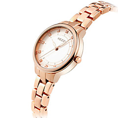 KEZZI® Women's Fashion Quartz Casual Watch Imitation Diamond Simple Stainless Steel Belt Round Alloy Dial Wrist Watch Cool Watch Unique Watch
