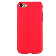 Voor iPhone 7 hoesje / iPhone 7 Plus hoesje / iPhone 6 hoesje Ultradun / Mat hoesje Achterkantje hoesje Effen kleur Zacht TPU AppleiPhone