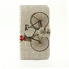 Voor lg g5 fietspatroon pu lederen full bodycase met tribune en kaart slot voor lg g5