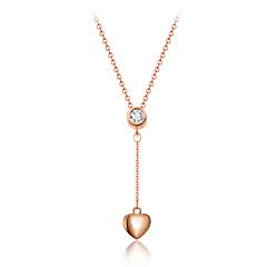 Dames Hangertjes ketting Kristal Hartvorm Kristal Gesimuleerde diamant Legering Liefde Hart Luxe Sieraden Kwasten oversteekplaats Modieus