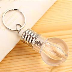 3st kreativa glödlampor nyckel spänne färgrik lampa nyckelring mini färgrik lampa nyckelring (slumpvis färg) med batteri