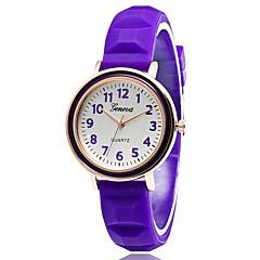 Heren / Dames / Voor Stel / Uniseks Modieus horloge / Armbandhorloge Kwarts Silicone Band Vintage / VrijetijdsschoenenZwart / Wit / Rood