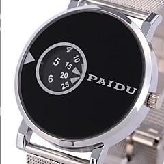 Herr Damers Sportsklocka Militärklocka Frackur Modeklocka Armbandsur Unik Creative Watch Quartz Punk Rostfritt stål BandVintage Häftig