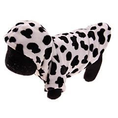 Koira Takit Koiran vaatteet Rento/arki Leopardi Valkoinen/musta