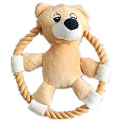 강아지 장난감 반려동물 장난감 인터렉티브 / 플러시 장난감 / 소리 장난감 찍찍 소리를 내다 / 견고함 핑크 / 카멜 면