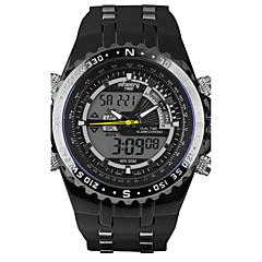 Herren Sportuhr / Militäruhr digital / Japanischer Quartz LED / Kalender / Chronograph / Duale Zeitzonen / Alarm / leuchtend / Stopuhr