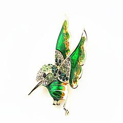 korean nainen metalliseos lintu rintakoru