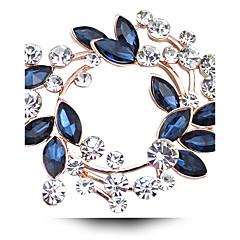 Erkek Kadın's Kadın Diğer Broşlar Kristal lüks mücevher Simüle Elmas Avusturya Kristali Mücevher Uyumluluk Düğün Parti Günlük