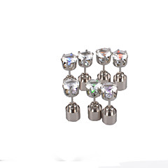 DiamondStud Earrings Glow Earring The Ruins of Five-pointed Star Earring Earrings Diamond  Earrings Night Light at a Low Price 2Pairs TESO ®