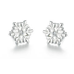 SILVERAGE Sterling Silver Snowflake Stud Earrings