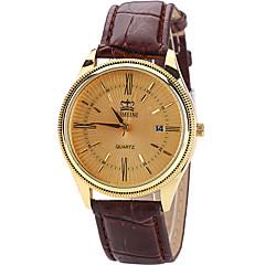 Men's Wrist watch Quartz / PU Band Cool Casual Black Brown