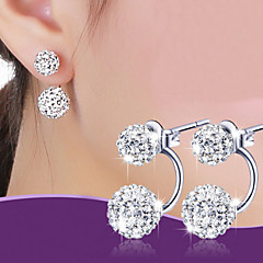 Stud Earrings Earrings Basic Classic Fashion Alloy Ball Silver Jewelry For Wedding Party Daily Casual Christmas Gifts 1 Pair
