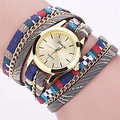 Da donna Orologio alla moda Orologio da polso Orologio braccialetto Quarzo Colorato PU BandaVintage Caramelle Stile Boho Ciondolo