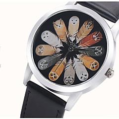 Heren Dames Sporthorloge Dress horloge Modieus horloge Polshorloge Kwarts / Kleurrijk PU Band Vintage Cartoon Cool Vrijetijdsschoenen Uil