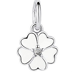 Sterling Silver Diamond Pendant and Clover Glue Supply Sterling Silver Beads