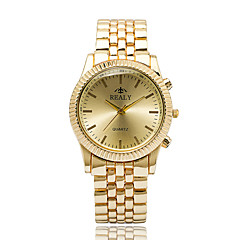 Women's Wrist Quartz Personality Simple Business Cool Unqiue Watch Round Alloy Dial Originality Casual Fashion Watch