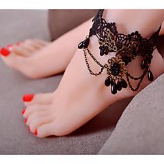 Kadın Ayak bileziği/Bilezikler Dantel minimalist tarzı Moda Avrupa Kule Mücevher Uyumluluk Parti Günlük