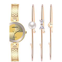 Kleideruhr Modeuhr Armbanduhr Armband-Uhr Wasserdicht Quartz Edelstahl Band Böhmische Perlen Bettelarmband Armreif Cool Bequem Luxuriös