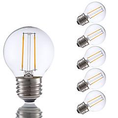 2W E26/E27 Lâmpadas de Filamento de LED G16.5 2 COB 200 lm Branco Quente Regulável V 6 pçs