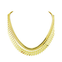 Punk Rock Double Layers Chunky Chain Necklace for Women