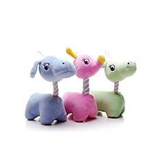 강아지 장난감 반려동물 장난감 인터렉티브 디어 면 그린 블루 핑크