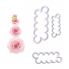 3pcs/set Rose Flower Cookie Cutter Fondant Cake Decorating Tools Sugarcraft Biscuit Cutter for Kitchen Baking Tool
