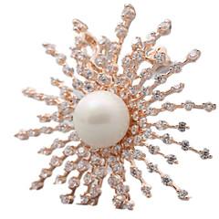Női Melltűk Méretes ékszerek luxus ékszer Európai Gyöngy Flower Shape Napraforgó Ékszerek Kompatibilitás Napi