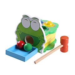 Educatief speelgoed Ontspannende hobby's Speeltjes Noviteit Kikker Hout Grijs Voor jongens / Voor meisjes