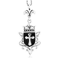 mannen punk stijl hanger charme ketting 316L roestvrij staal retro carving kruisvorm sieraden