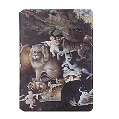 For Apple iPad Air2 Air Case Cover Animal Pattern PU Leather Stent Flat Shell