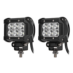 ZIQIAO 2Pcs Car Light 9-30V 18W 6500K 1800LM 4WD Car LED Work Light ATV Off-road Driving Floodlight/Spotlight Lamp Car Styling