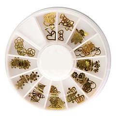 50kpl eri muotoisia metalli nail art koristelu