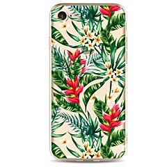 Per Ultra sottile / Fantasia/disegno Custodia Custodia posteriore Custodia Fiore decorativo Morbido TPU per AppleiPhone 7 Plus / iPhone 7