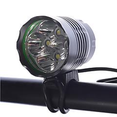 LED taskulamput Otsalamput Pyöräilyvalot LED Cree XM-L T6 Pyöräily Himmennettävä ladattava Kompakti koko Erityiskevyet 18650 4000 Lumenia