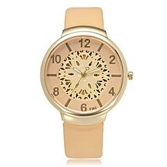 Women's Fashion Watch Wrist watch Quartz PU Band Cool Casual Black White Gold