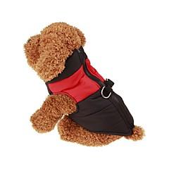 Perros Abrigos Chaleco Rojo Verde Azul Rosado Ropa para Perro Invierno Primavera/Otoño Un Color Mantiene abrigado