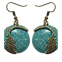 Hoop Earrings Gemstone Glass Jewelry Party Daily 1 pair